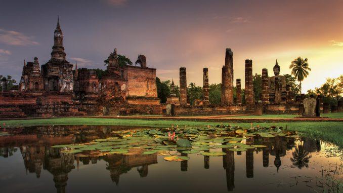 Ville de Sukhothai en Thailande