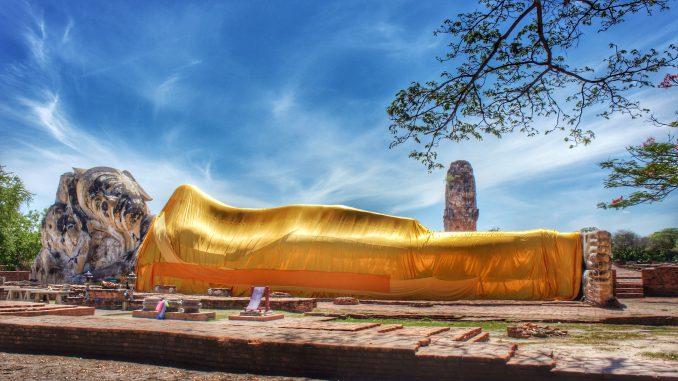 Wat Lokayasutharam Temple Ayuthaya Thailand